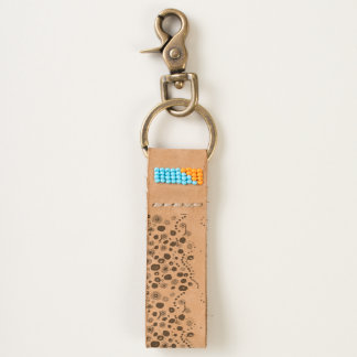 Dotty circles abstract pattern keychain