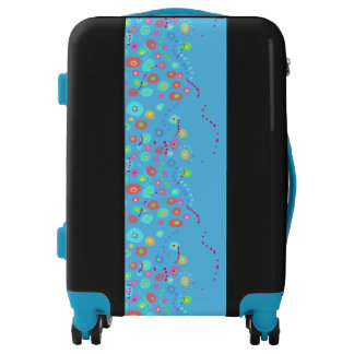 Dotty circles abstract pattern luggage