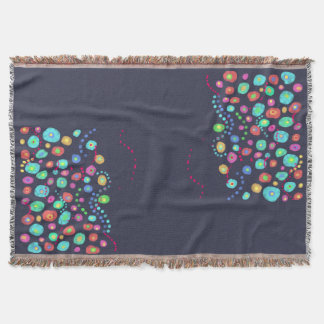Dotty circles abstract pattern throw blanket