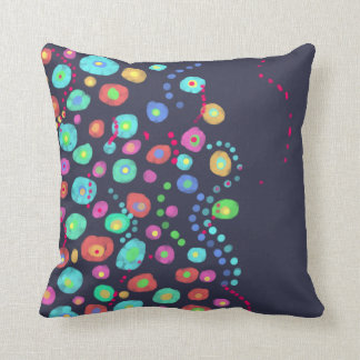 Dotty circles abstract pattern throw pillow