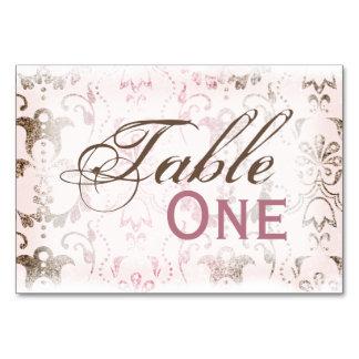 Dotty Damask Table Card