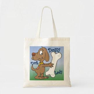 Dotty Dog Lady Tote Bag