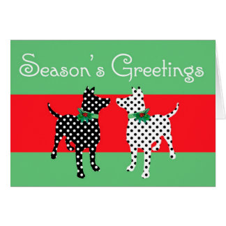 Dotty Dogs Christmas Card