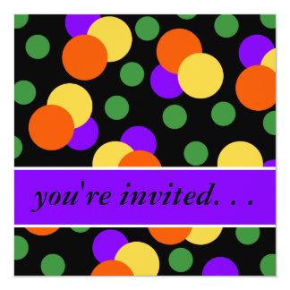 Dotty Halloween Party Invitation