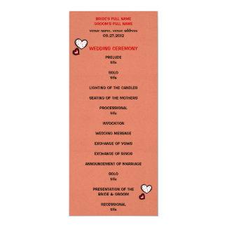 Dotty Hearts kraft red Wedding Program