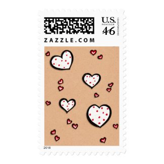 Dotty Hearts kraft Stamp stamp