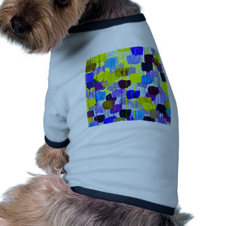 Dotty in Periwinkle, Colorful Abstract  Polka Dots Doggie Tshirt