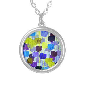 Dotty in Periwinkle Colorful Abstract Polka Dots Custom Necklace