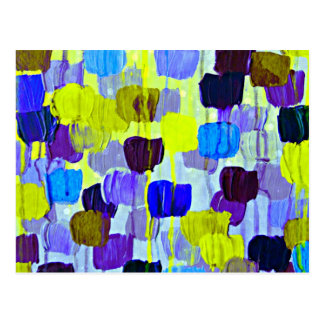 Dotty in Periwinkle, Colorful Abstract  Polka Dots Postcard
