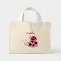Dotty Ladybug Personalized Tote Bag