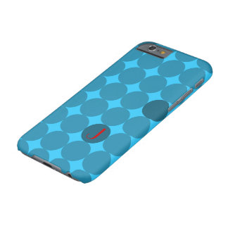 Dotty Monogram In Red And Aqua Barely There iPhone 6 Case