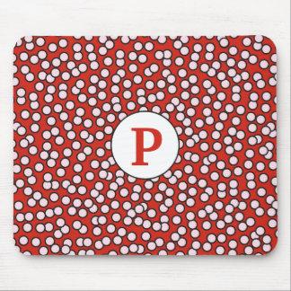 Dotty Monogram Pattern Mouse Pad