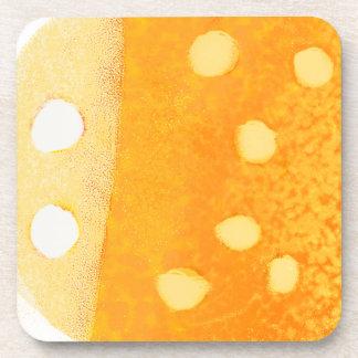 Dotty Orange-Bug Coaster