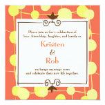 Dotty (Orange Sorbet) Wedding Card