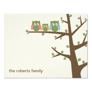 Dotty Owls Thank You Cards Invitation