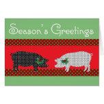 Dotty Pigs Christmas Card