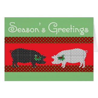 Dotty Pigs Christmas Card