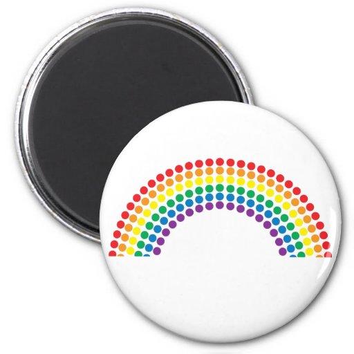 Dotty Rainbow 2 Inch Round Magnet