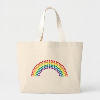 Dotty Rainbow Large Tote Bag