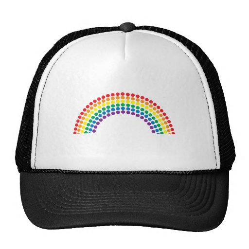 Dotty Rainbow Mesh Hat