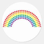 Dotty Rainbow Round Sticker