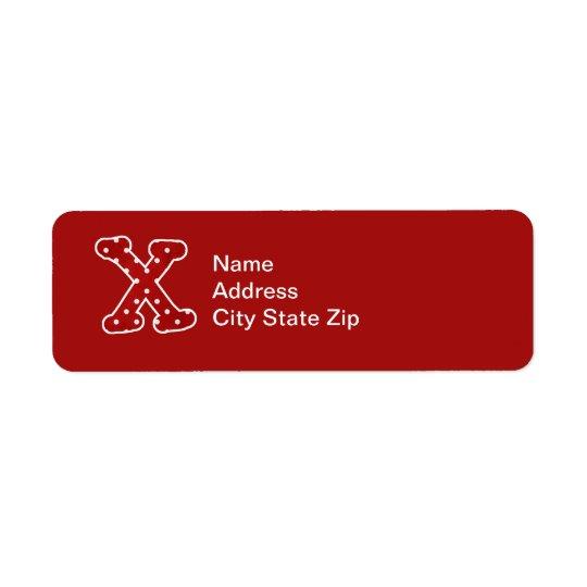 Dotty Red Monogrammed Label (X)