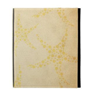 Dotty Starfish on Vintage Style Pattern iPad Cases