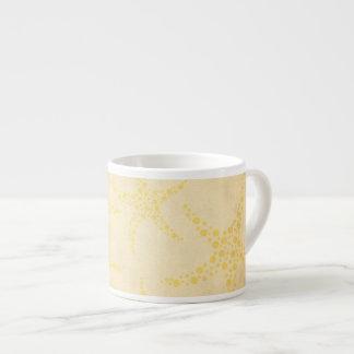 Dotty Starfish on Vintage Style Pattern Espresso Cup