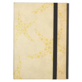 Dotty Starfish on Vintage Style Pattern iPad Cover