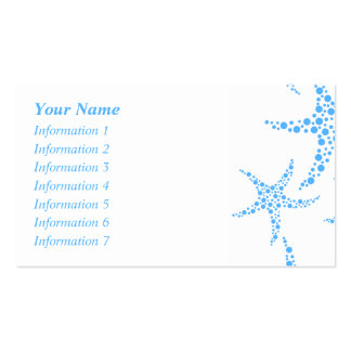 Dotty Starfish Pattern in Blue and White. Business Card