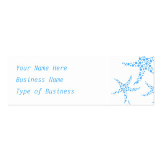 Dotty Starfish Pattern in Blue and White. Double-Sided Mini Business Cards (Pack Of 20)
