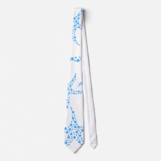 Dotty Starfish Pattern in Blue and White. Tie