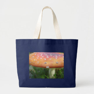 Dotty toadstool large tote bag