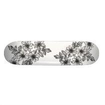 Dotwork Flower Skateboard