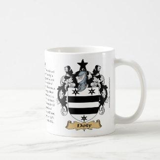 Doty, el origen, el significado y el escudo taza de café