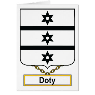 Doty Family Crest Card