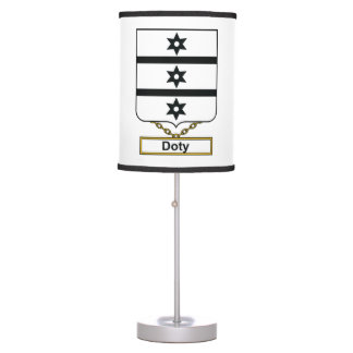 Doty Family Crest Desk Lamps