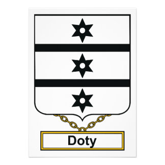 Doty Family Crest Personalized Invitation