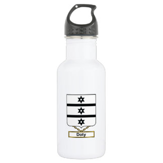 Doty Family Crest Stainless Steel Water Bottle