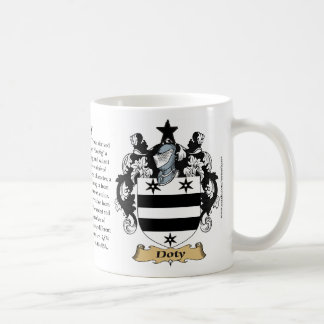 Doty, the Origin, the Meaning and the Crest Classic White Coffee Mug