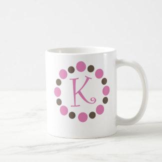 "Dotz Initial Mug ""K"""