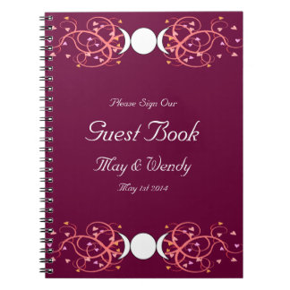 Double 3 in 1 Wiccan Lesbian Handfasting Guestbook Notebooks
