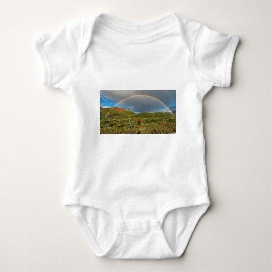 Double Alaskan rainbow, real photo! Baby Bodysuit