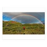 Double Alaskan rainbow, real photo! Post Card