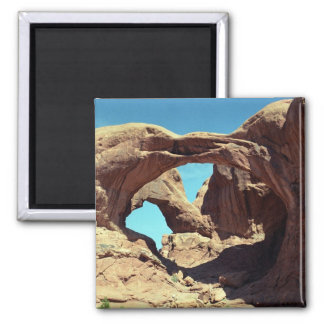 Double Arch 2 Inch Square Magnet