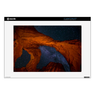 Double Arch And The Milky Way - Utah Skins For Laptops