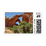 Double Arch - Arches National Park Postage Stamp