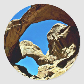 Double Arch - Arches National Park Classic Round Sticker
