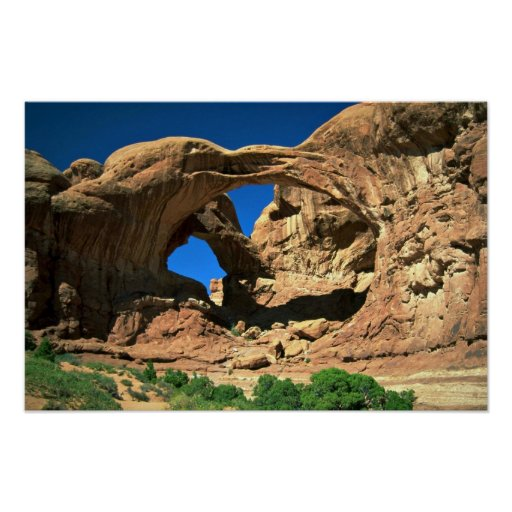 Double Arch, Arches National Park, Utah Poster