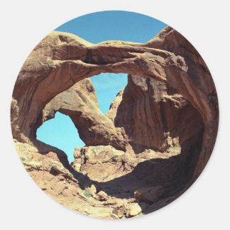 Double Arch Classic Round Sticker